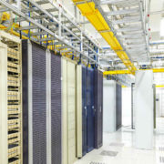Telecom Room, yellow cabling.